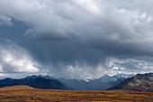 Rain Falling over the Alaska Range