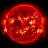 Active Sun,SDO ultraviolet image