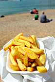 Chips at the seaside