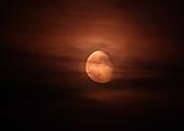 Moonrise through Clouds
