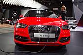 Audi A-3 e-tron hybrid electric car