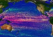 Ocean currents in the Pacific Ocean