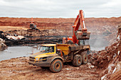 Open-cast coal mine,South Africa