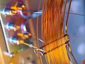 Gas chromatograph column coil