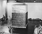 First nuclear reactor test design,1940s