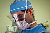 Surgeon operating