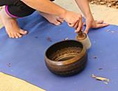 Tibetan meditation bowl or singing