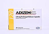 Diltiazem angina drug