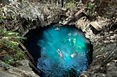 Yucatan Peninsula sinkhole