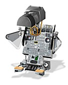 Apollo Lunar Module navigation controls