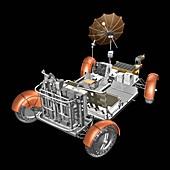 Lunar Roving Vehicle,illustration