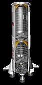 Saturn V rocket first stage,illustration