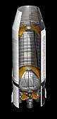 Saturn V rocket 2nd stage,illustration