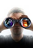 Stock market foresight,conceptual image