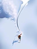 Skiing,conceptual image