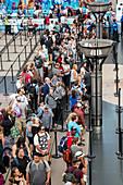 Security screening queue,Denver Airport