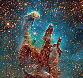 Eagle Nebula's Pillars of Creation