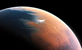 Water on a young Mars,illustration