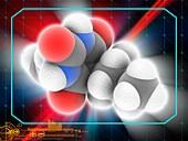 Secobarbital drug molecule