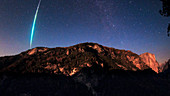 Meteor fireball over Yosemite