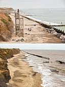 Coastal erosion,Happisburgh,Norfolk,UK