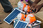 Charging solar lamps