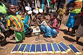 Solar-powered lamps