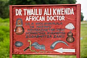 Sign for a traditional African Doctor