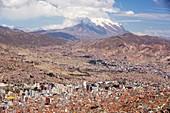 Illimani and La Paz,Bolivia