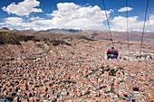 Modern cable car system,La Paz,Bolivia