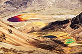 Colourful lakes,Bolivian Andes