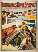 Indianapolis Motor Speedway poster,1909