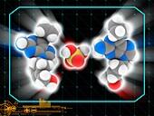 Abacavir sulfate drug molecule