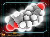 Norethindrone acetate drug molecule