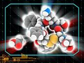 Octreotide acetate drug molecule