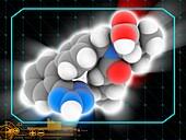 Valsartan drug molecule