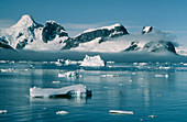 Icebergs off Antarctic Peninsula