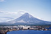 Mount Mayon behind Legaspi,Philippines