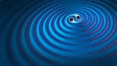 Gravitational waves,illustration
