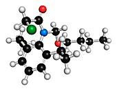 Butachlor molecule,illustration