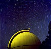 Telescope dome with cicumpolar rotation