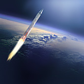 Missile in Space