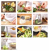 How to prepare flat ribbon pasta with Brussels sprouts, capers and parsley pesto