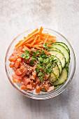 Poke - Hawaiian salmon salad