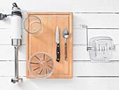 Küchenutensilien für Shakezubereitung