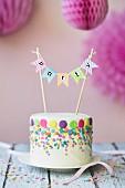 Kuchen für eine Geburtstagsparty