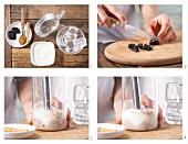 How to prepare plum smoothie with cinnamon