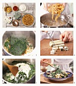 How to prepare gorgonzola and spinach pasta