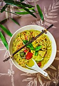 Geng Gari Gai (Thai ramen noodles with yellow chicken curry)