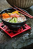 Hiyashi Chuka Ramen (cold Japanese noodle soup)